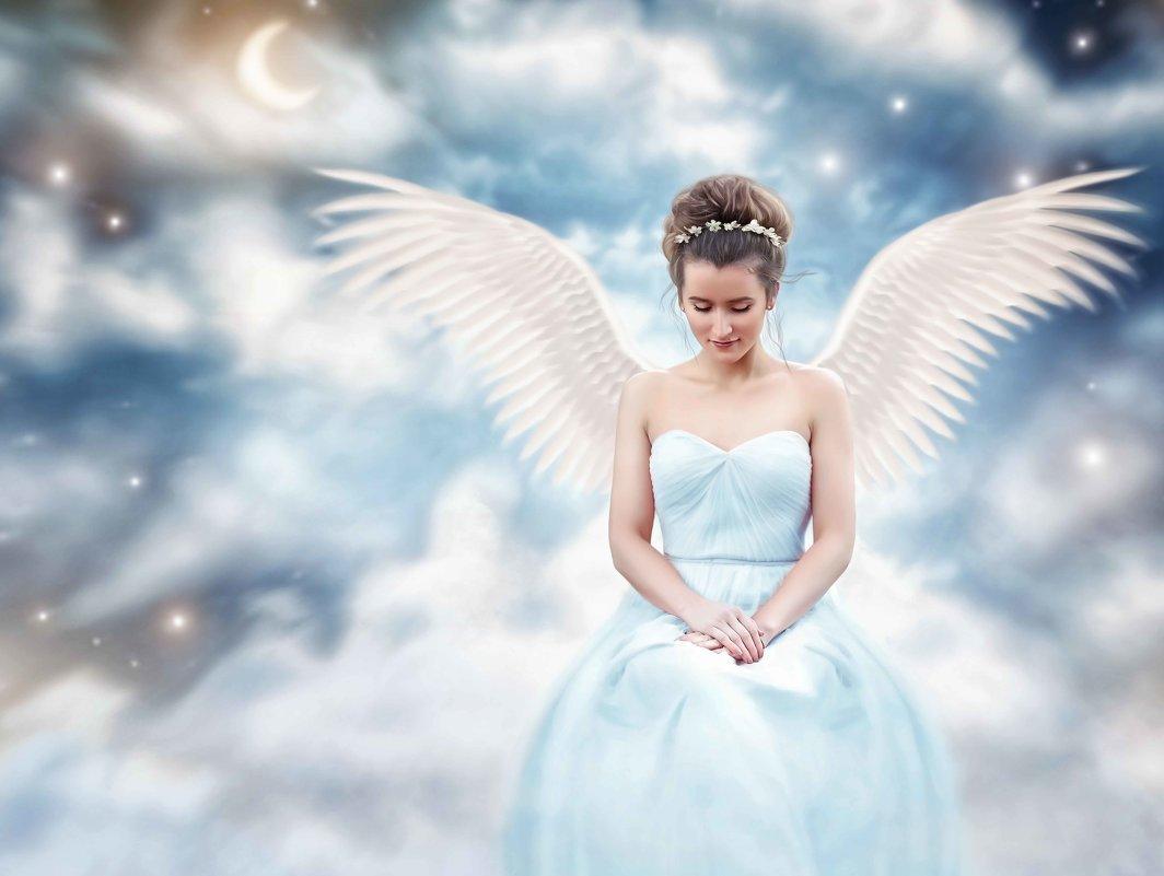 """Коллаж """"Небесный ангел"""" - Екатерина Сачева"""