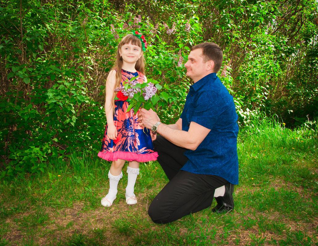 папа с дочкой - Ольга Кудинова