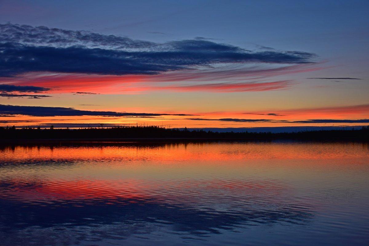 Закат на озере - Леонид Чащин