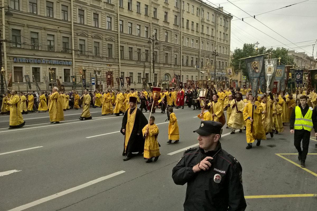 Крестный ход по Невскому День Александра Невского - tipchik