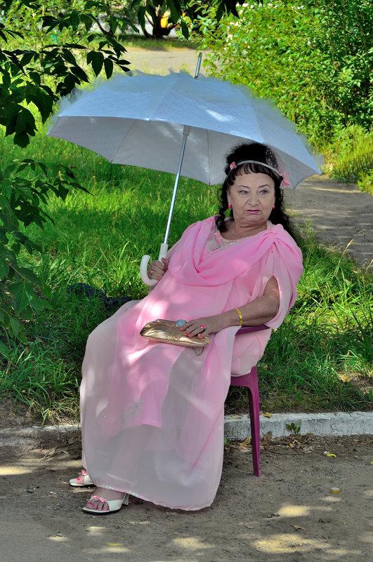 Дама с зонтом. - Александр Зуев