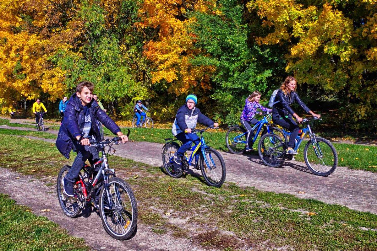 прогулка на велосипедах - юрий иванов
