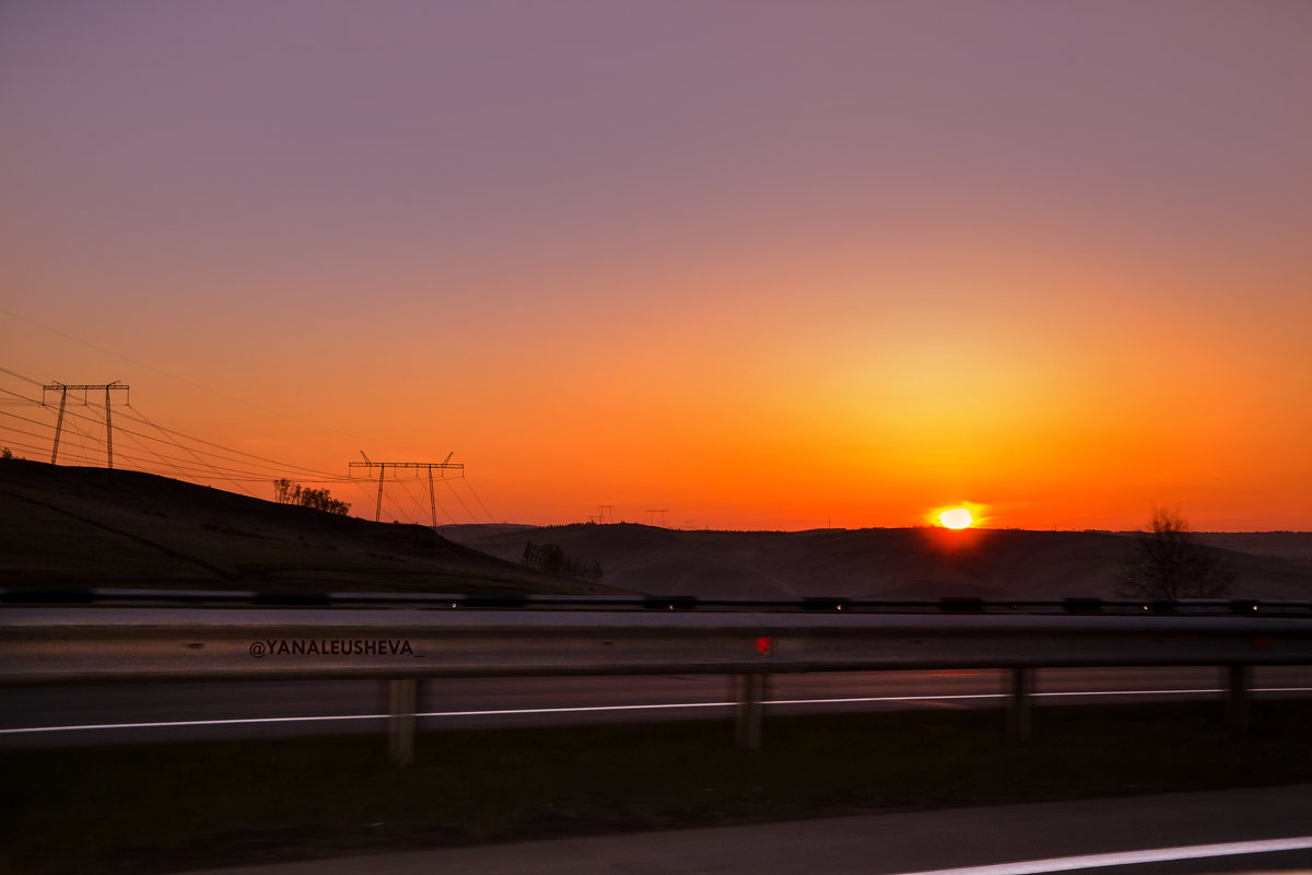 Дальняя дорога на закате дня - yanaleusheva