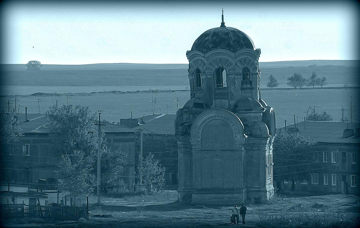 Разрушенная Церковь у села... (Церковь Алексия, человека Божия). - Elena Izotova