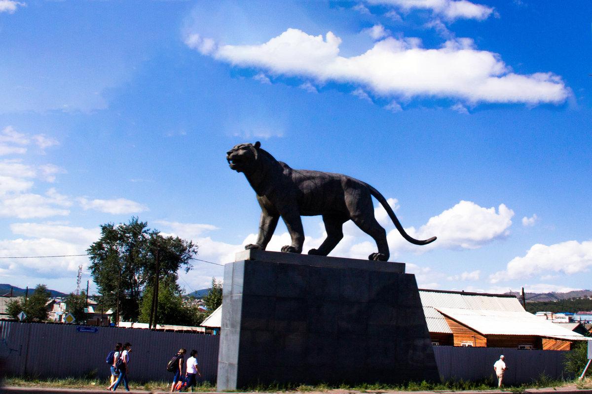 Статуя на автомобильном мосту через Улан - Уде - Марина Кириллова
