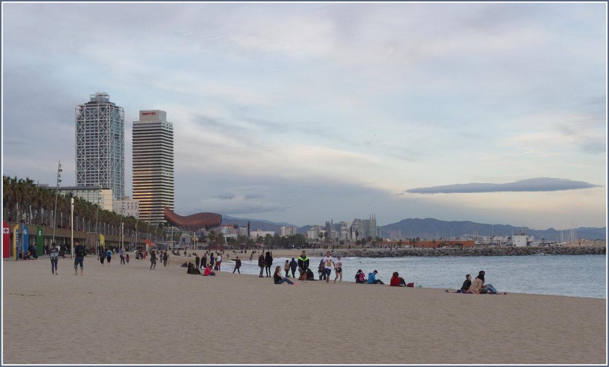 Playa de la Barceloneta. - Николай Панов