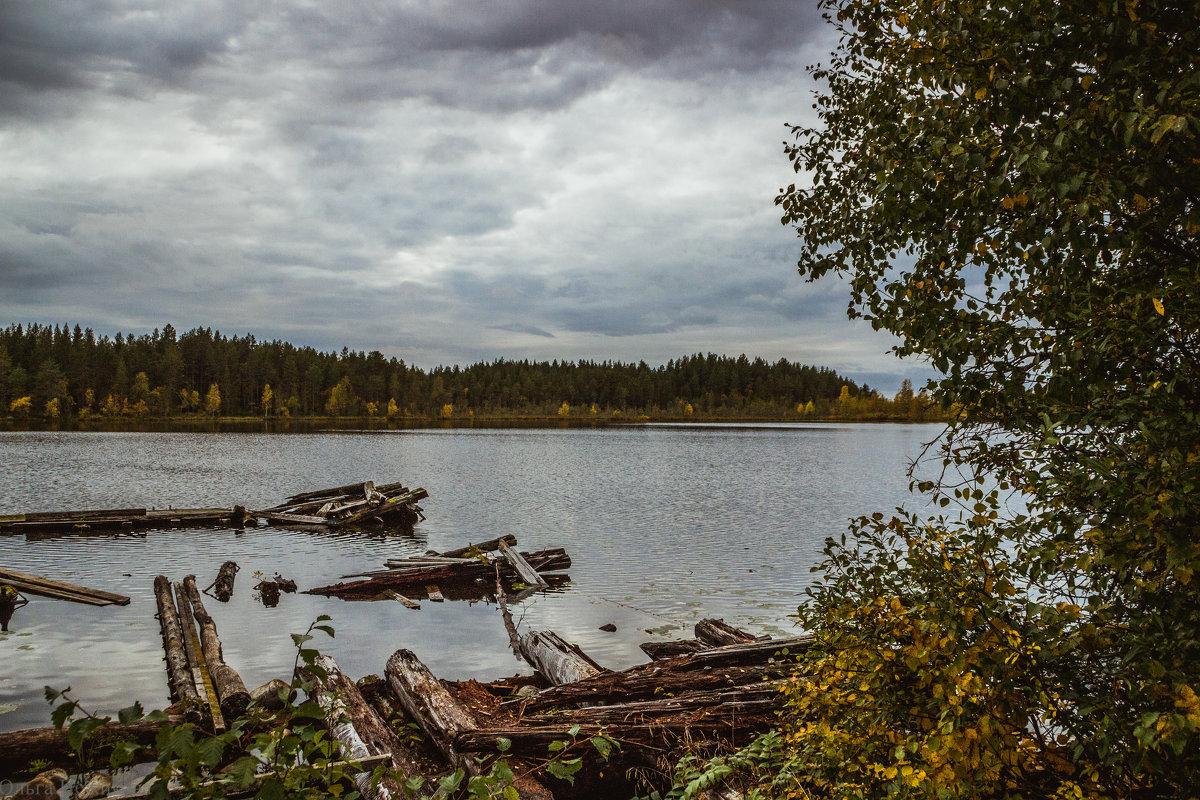 Озеро Переламбино,на рыбалке - Ольга Нежикова