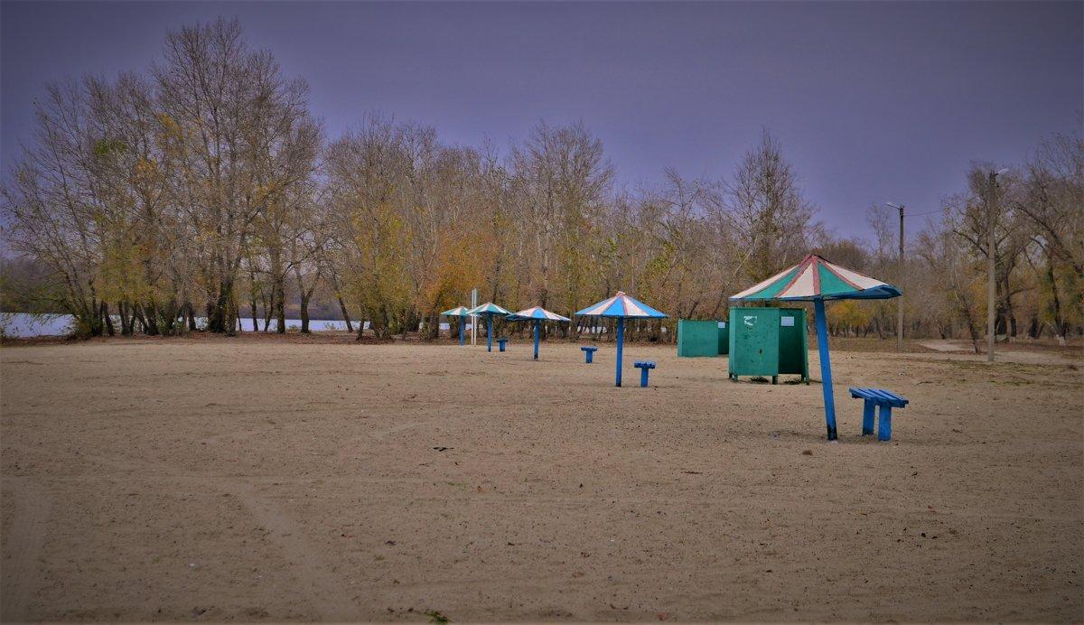 Осенний пляж..тишина.. - Лариса Красноперова