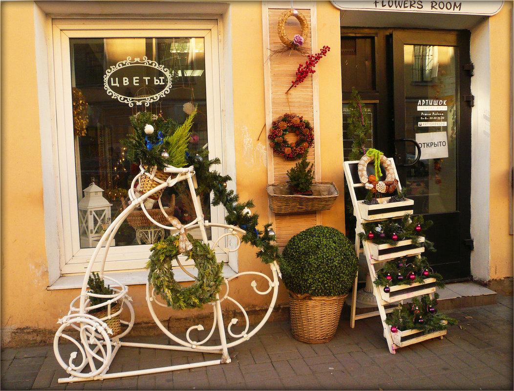 Цветочный магазин к Новому году готов - Galina Belugina