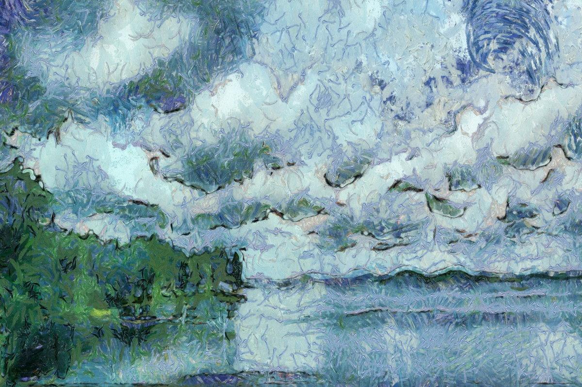 Цвета  немыслимых  тонов спустились  в  озеро, нырнули..... - Tatiana Markova