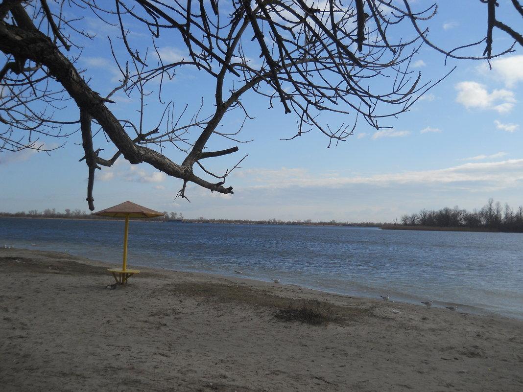 Зимой на пляже  пусто - Галина