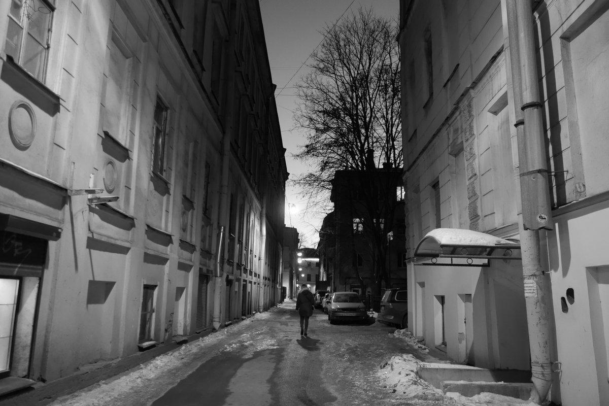 в тёмном переулке - Елена