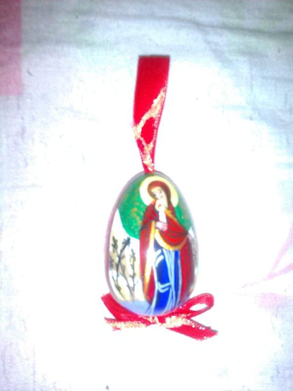 ПАсхальное яйцо с изображением Божьей матери. (март, 2018 год, Кузнечный рынок). - Светлана Калмыкова