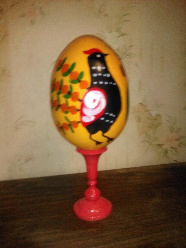 Моя роспись. Яйцо расписано в технике городца. (март 2018 год). - Светлана Калмыкова