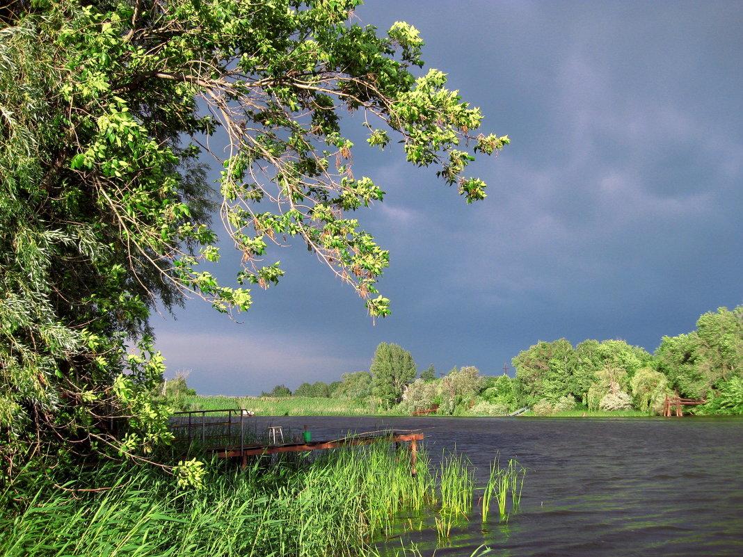 На реке перед грозой - Лидия Бараблина