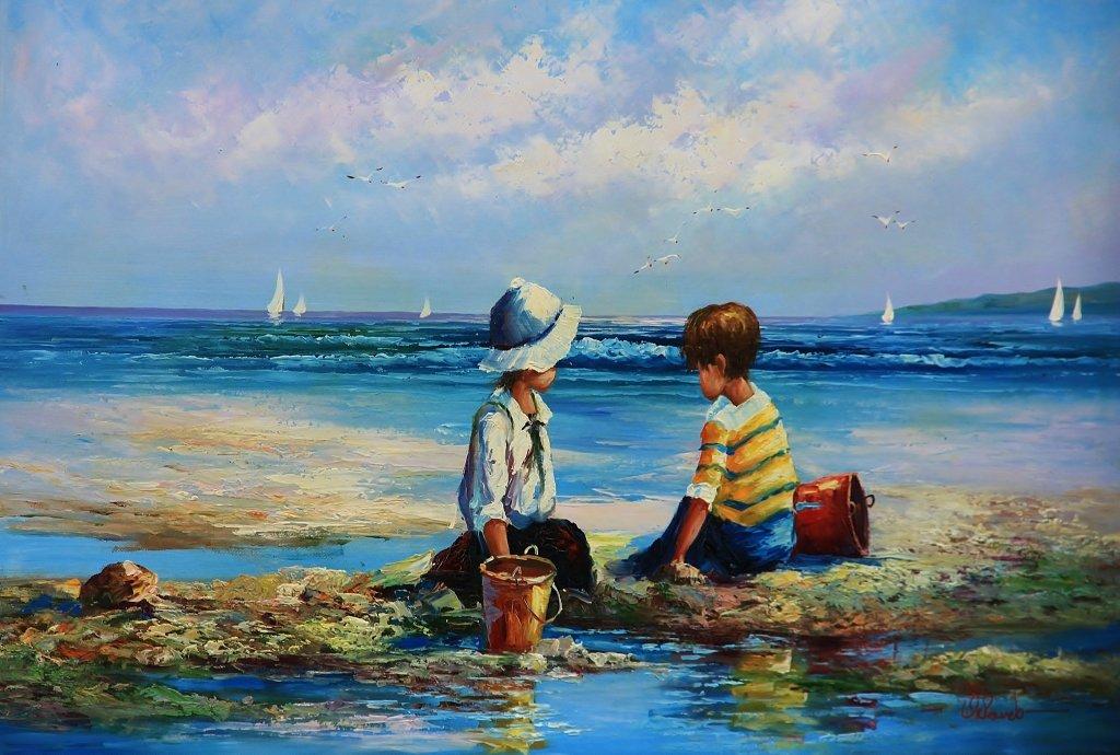 Дети на берегу - Natali Positive