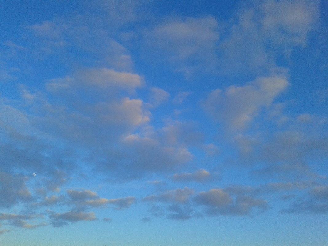 Розовые облака на закате - Сапсан