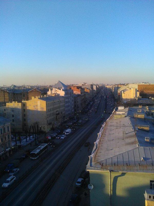 Вид с крыши Лофт Проект ЭТАЖИ на Лиговский проспект. - Светлана Калмыкова
