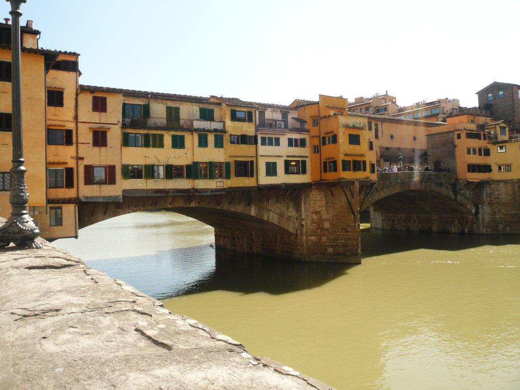 Золотой мост Понте Веккьо во Флоренции. - Galina Belugina