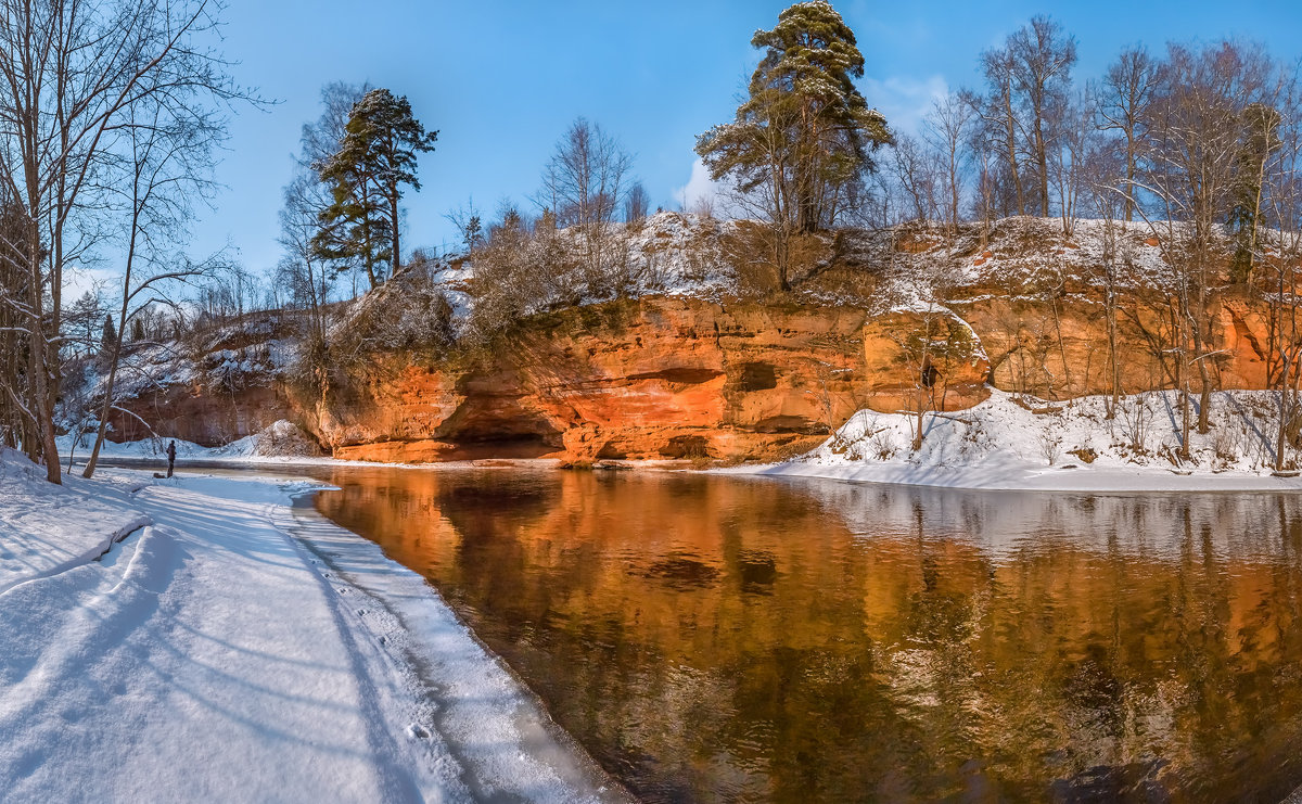 Обнажения девона на реке Оредеж - Фёдор. Лашков