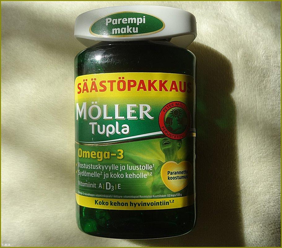 Витамины Омега-3, D и A, E Möller Tupla Omega-3 100 капсул Moller - Вера