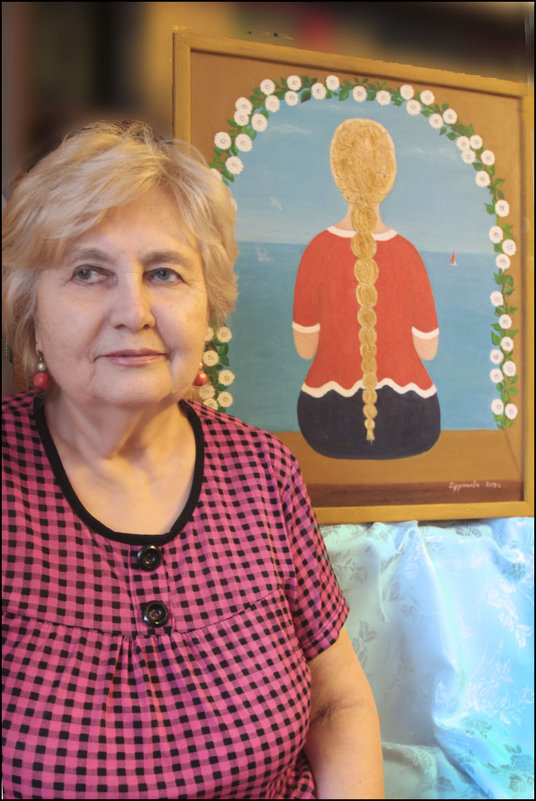 Картинка  с выставки. 60 лет спустя (автопортрет) - galina bronnikova