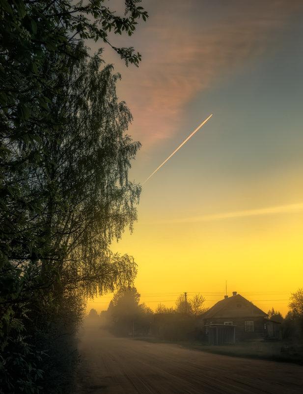 В деревне вечером - Михаил Александров