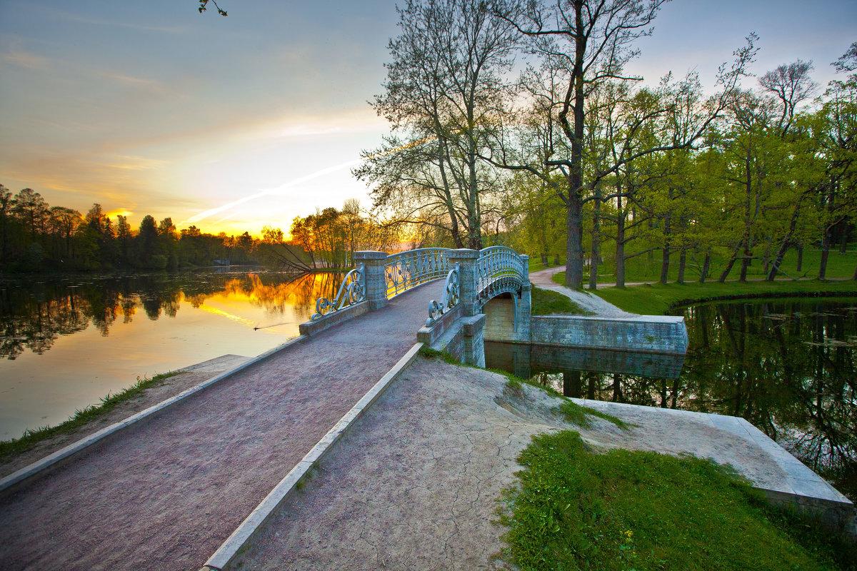 Парк,мостик Гатчина - Александр