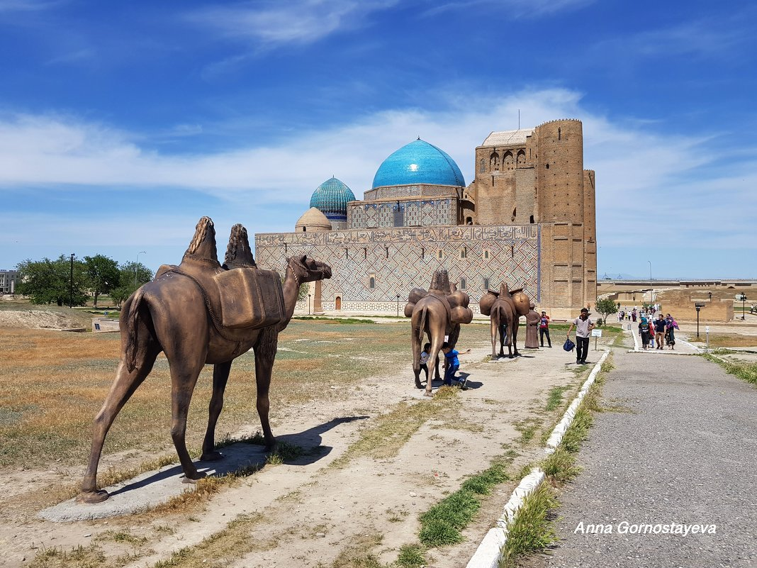Мавзолей Ходжа Ахмеда Яссауи в Туркестане. - Anna Gornostayeva