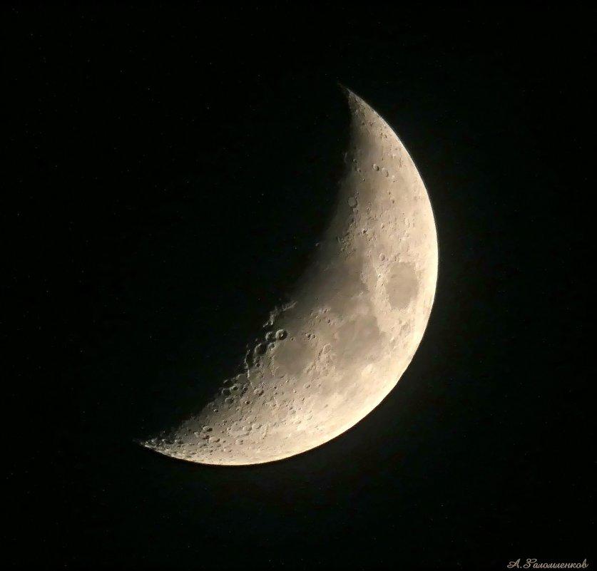 Серп луны над горой..  Где-то воет раненый волк  Слезинка упала… :) - Андрей Заломленков
