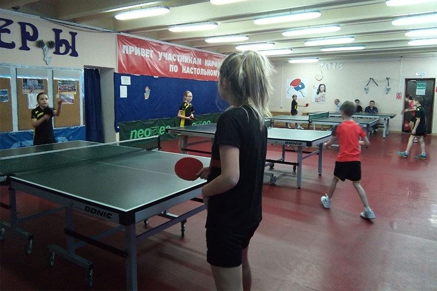 Открытый турнир по настольному теннису среди детей - Центр Юность