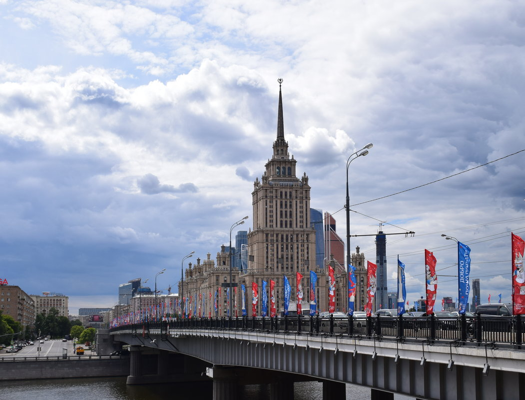 Москва . Новоарбатский мост - Galina Leskova