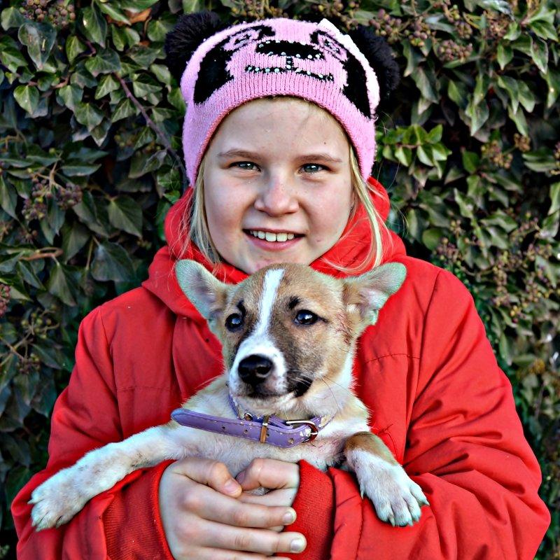 Девочка и собака - Валентина