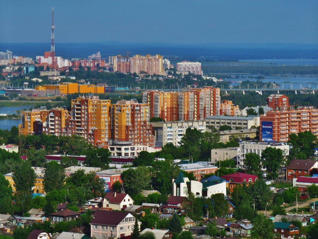 Город с окна, летний Иркутск - Дмитрий Юдаков