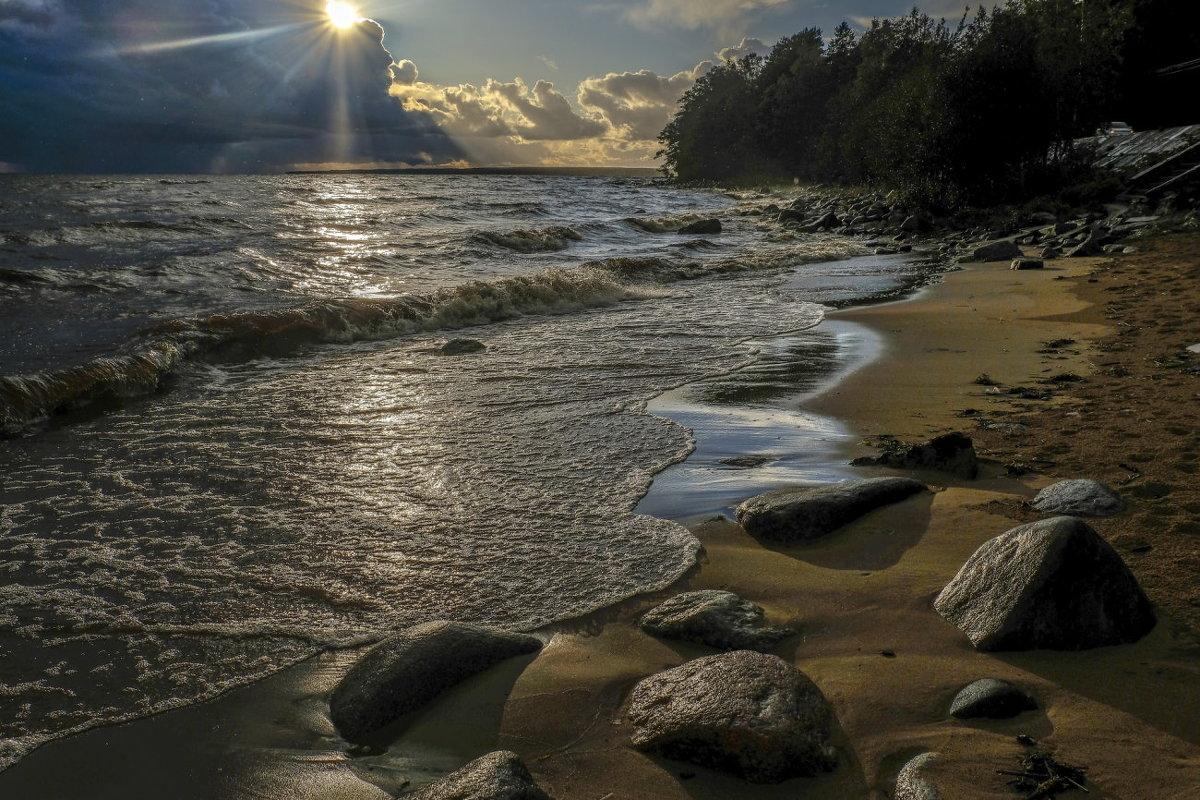 вечер на финском заливе после шторма