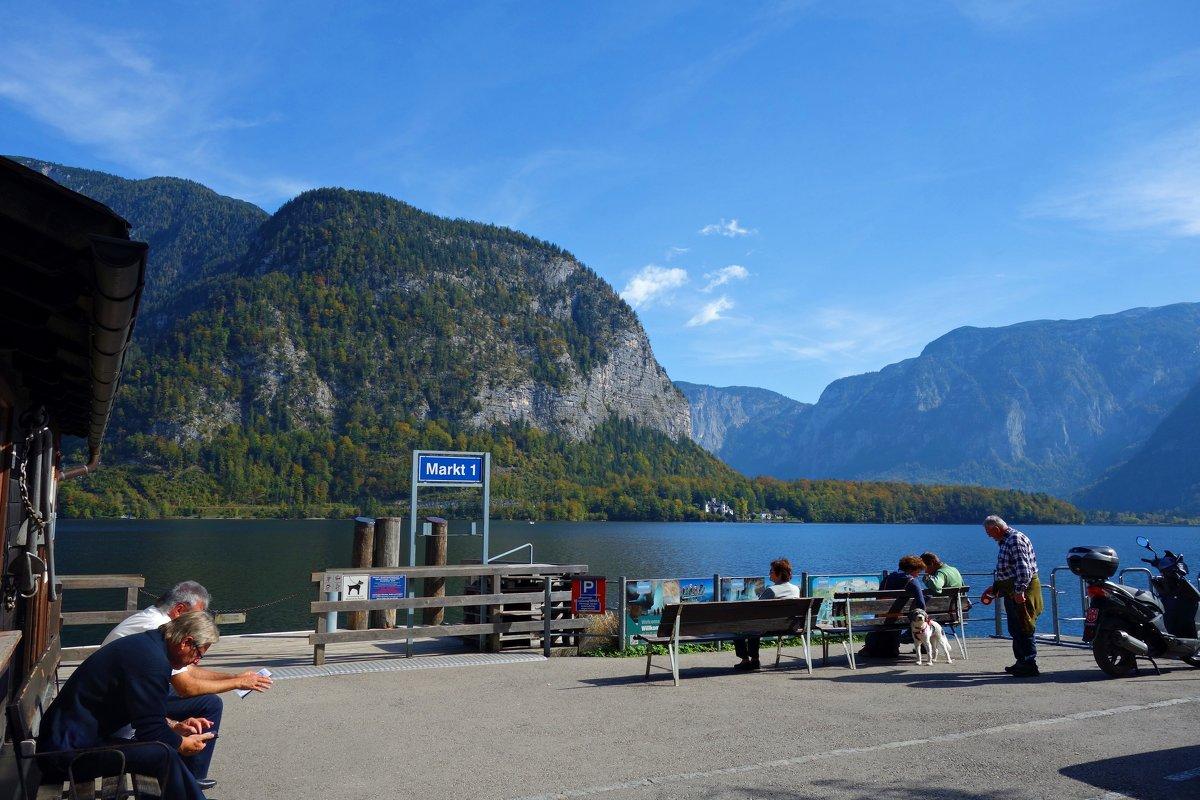 Хальштатт - невероятный маленький городок на озере в горах в австрийском районе Зальцкаммергут. - Galina Dzubina