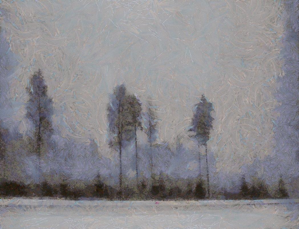 Рисует узоры мороз на оконном стекле.... - Tatiana Markova