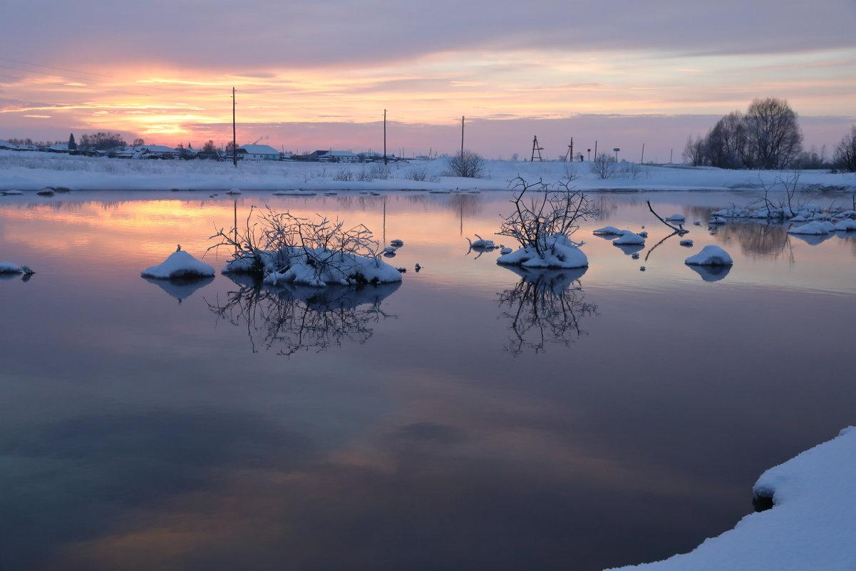 Январский закат... - владимир