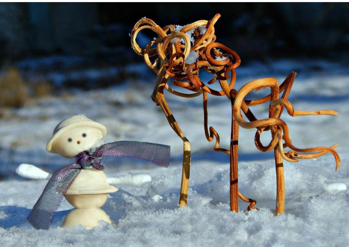 Снеговичок из равиоли. - ЛЮБОВЬ ВИТТ