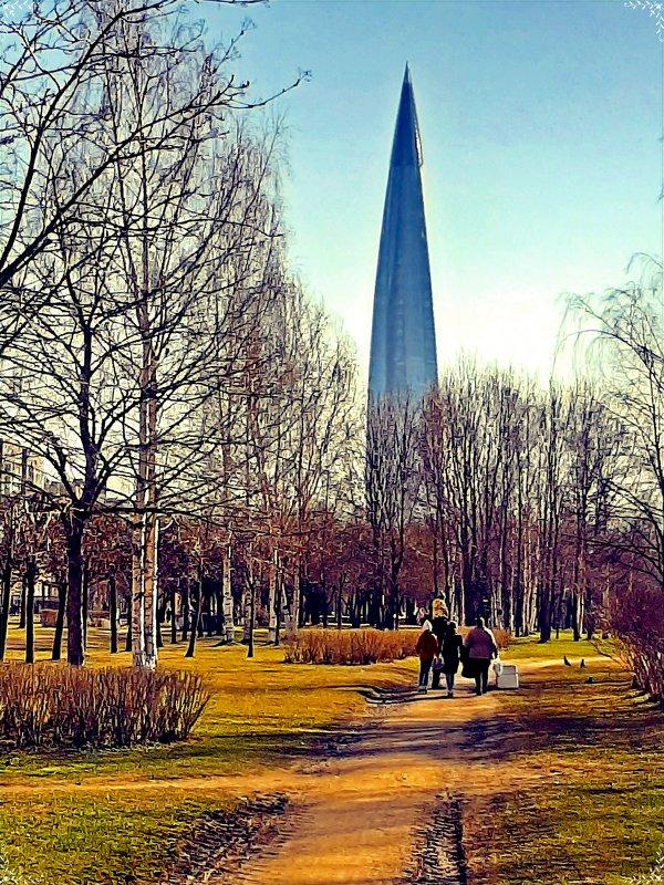 В парке 300 летия Спб. - Виктор Егорович