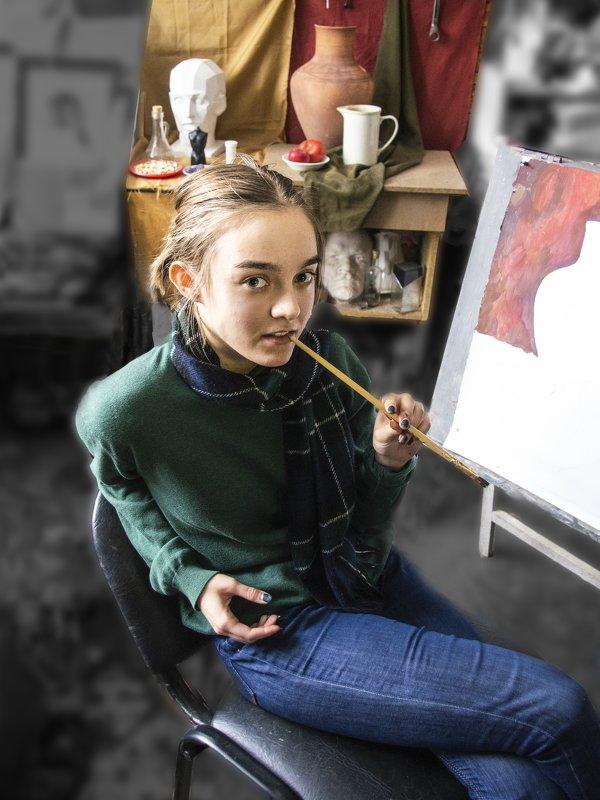 УЧЕНИЦА (надежда российской живописи) - Евгений