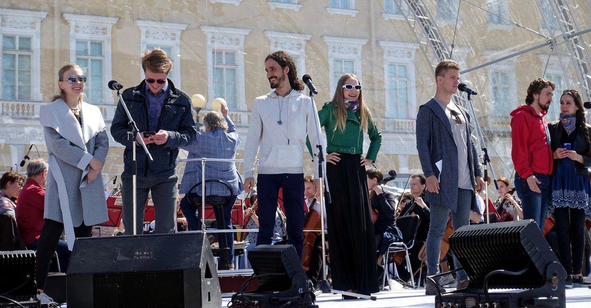 Выступление на Дворцовой площади - Сергей