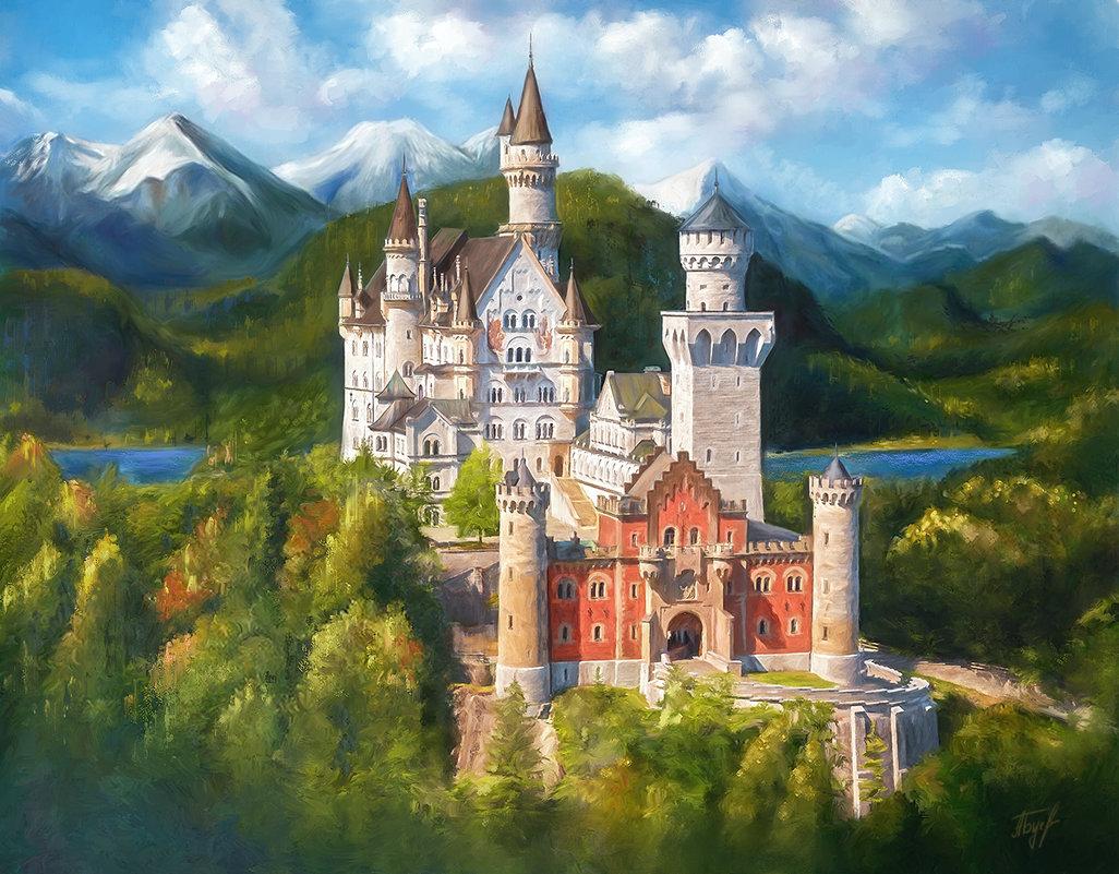 замок Нойшванштайн - Анна Бугаева