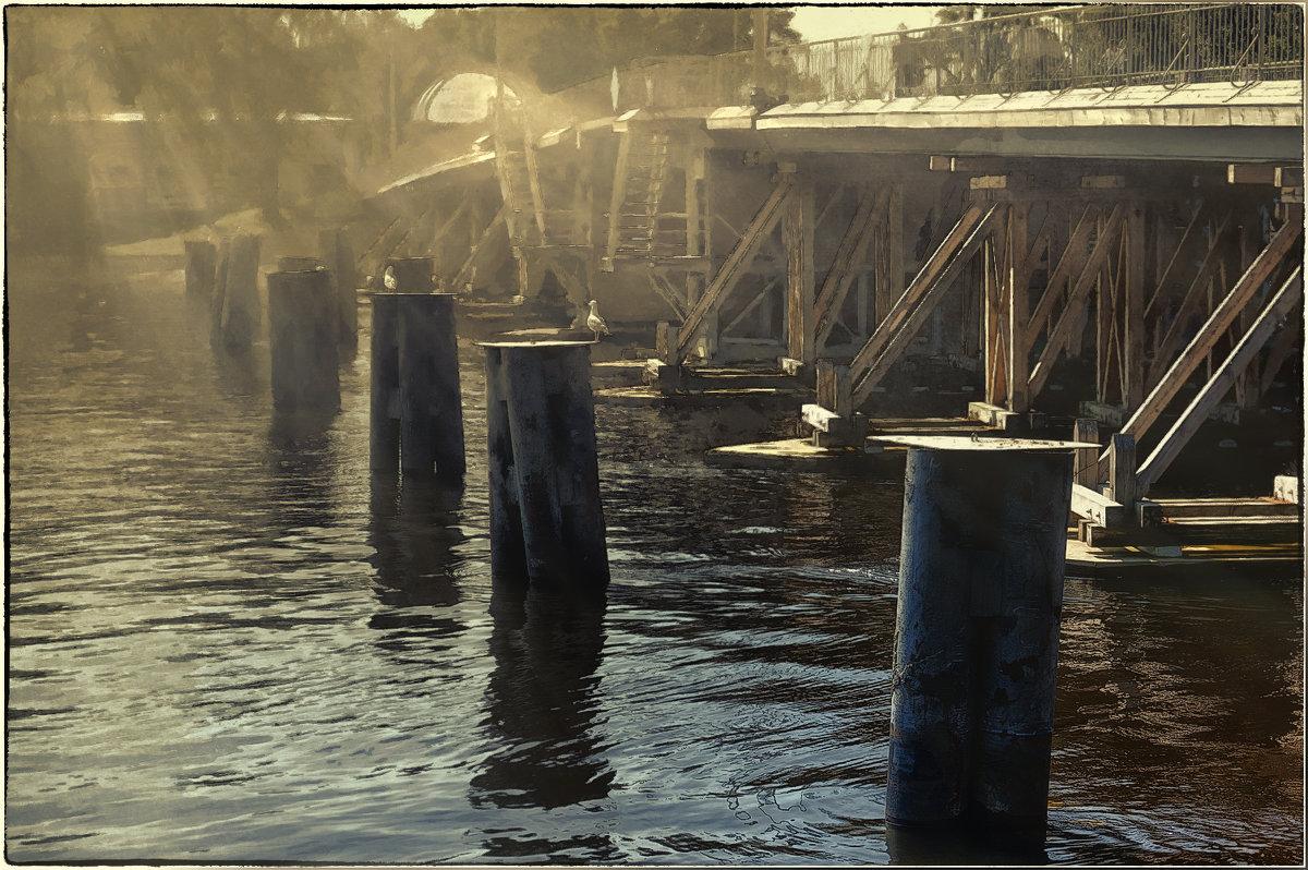 My magic Petersburg_03375_Малая Невка, 2-й Елагин мост - Станислав Лебединский