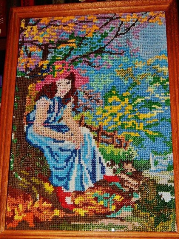 Девушка в саду - Валентина Пирогова