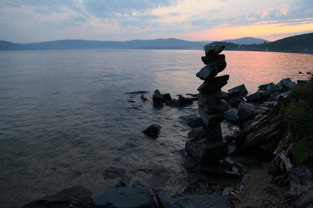 Вечер у озера - Петр Новоселов