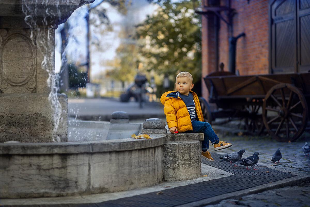 мальчик у фонтана - Елена Корж