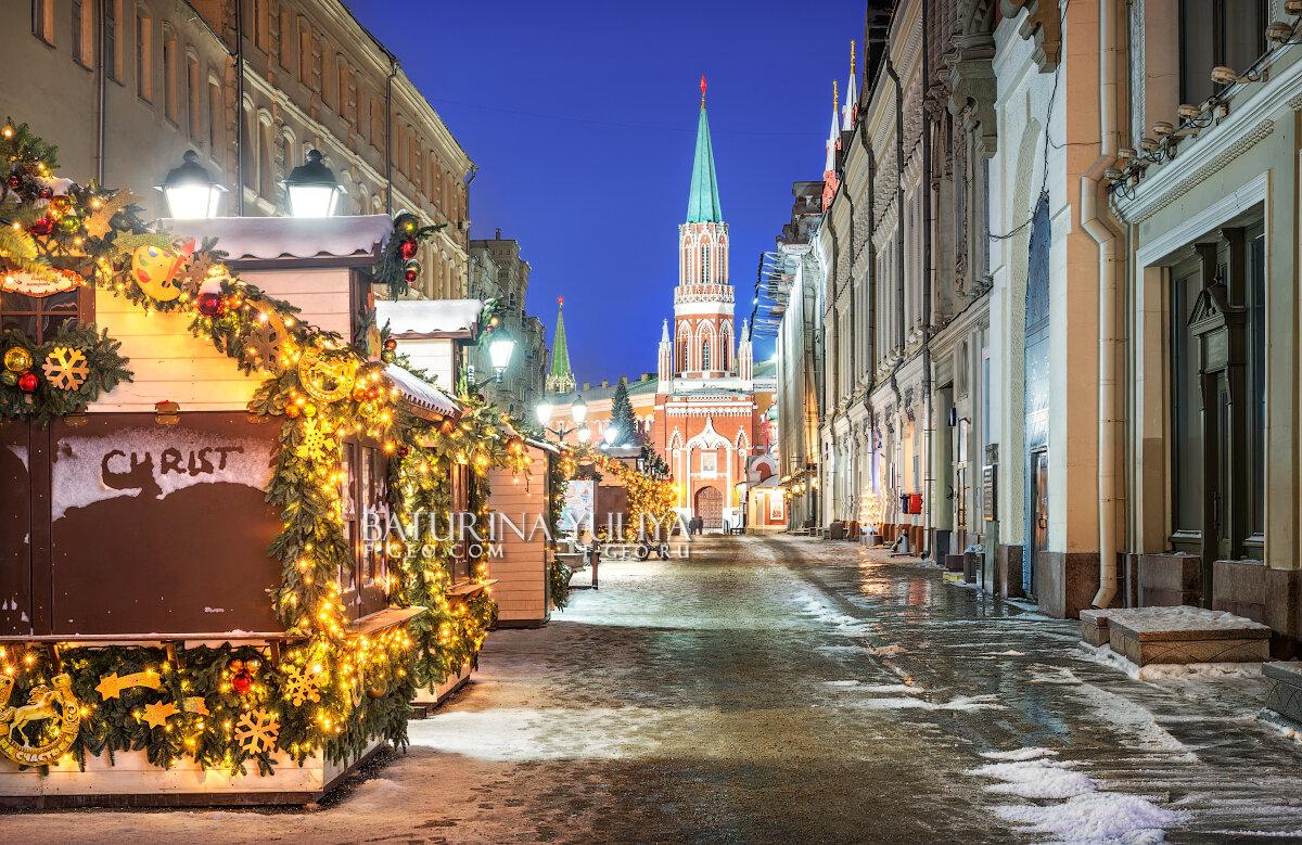 Новогодняя Никольская улица - Юлия Батурина