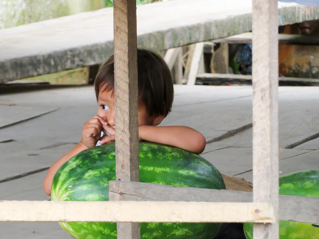 Мальчик и арбуз. Перу. Амазонка. - Сергей Козинцев