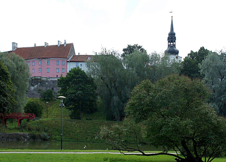 Вид на пруд Шнелли и башню Домского собора - Елена Павлова (Смолова)